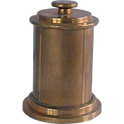 Brass Cigarette Holder Box in Round Cylinder Container