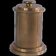 Brass Cigarette Holder Box in Round Cylinder Container