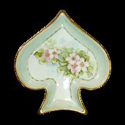 Spade Shape Limoges  La Seynie China Trinket Dish