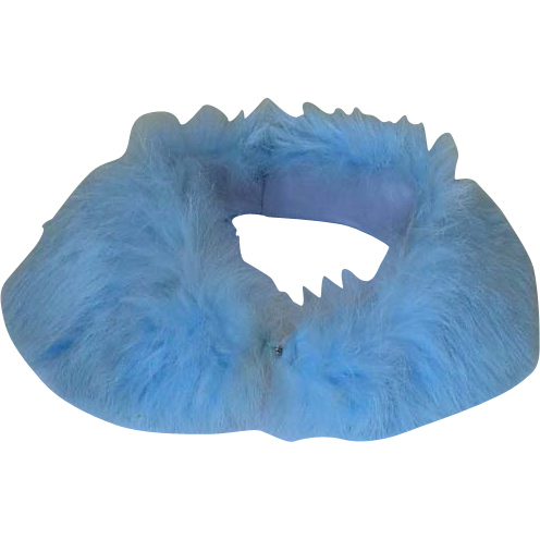 Blue Rabbit Fur Collar Vintage 1950
