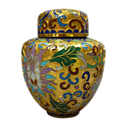 Cloisonne Miniature Chinese Squat Ginger Jar