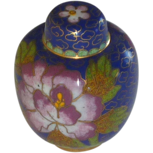 Miniature Asian Cloisonné Cloisonne Ginger Jar