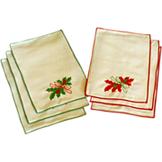 Set of Christmas Cocktail Napkins by Matouk