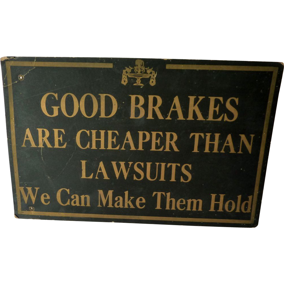Car Repair Shop Vintage Sign from Mid Century