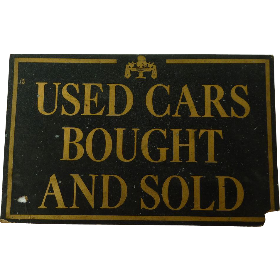 Used Car Dealership Vintage Sign from Mid Century