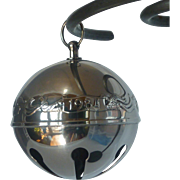 Collectable Silver Plate 1984 Christmas Sleigh Bell Ornament