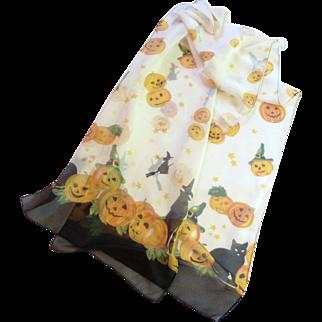 Halloween Pumpkins & Witches Neck Scarf