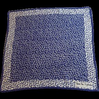 Diane Von Furstenberg Blue Small Neckerchief Scarf