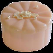 Menda Co. Plastic Vanity Powder Box with Powder Puff