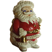 Ceramic Santa Claus Spaghetti 1950's Bank
