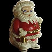 Ceramic Santa Claus Spaghetti 1950's Bank