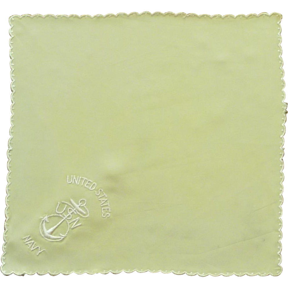 U.S. Navy  Yellow Silk Handkerchief Hanky