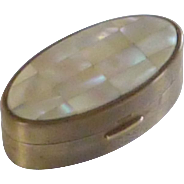 Max Factor Mother of Pearl & Brass Lipstick Holder