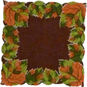Fall Autumn Designed Handkerchief Hankie