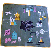Pat Prichard Signed Kitchen Grey Handkerchief –