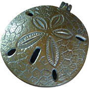 Brass Sand Dollar Incense Burner / Ashtray