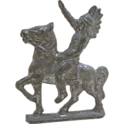 Lead American Indian on Horse Toy Figure