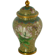Miniature Cloisonné Asian Ginger Jar