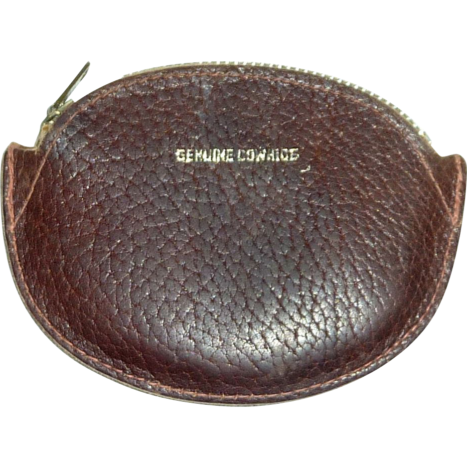 1950's Genuine Leather Coin Purse Pouch