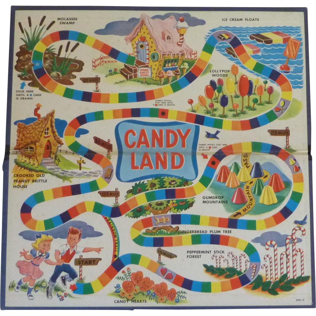Vintage Original Game Candy Land Board