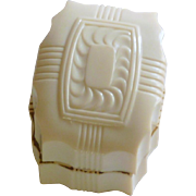 Ivory White Plastic 1950's Ring Box