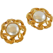 Faux Pearl Gold Tone Shoe Clips for Pumps
