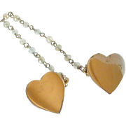 Silver Tone Heart Sweater Clip 1950's