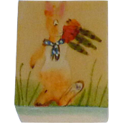 Hand Painted Rabbit on Wooden Trinket Box