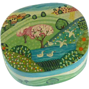 Paper Mache Hand Painted Trinket Box