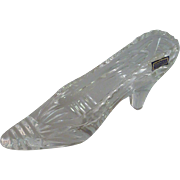 German Clear Glass Lead Crystal Slipper Shoe