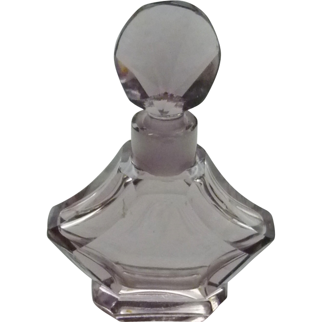 Vintage Purple Glass Perfume Bottle