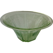 Green Depression Glass Bowl Princess Pattern