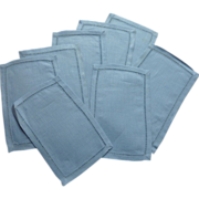 Blue Linen Cocktail Napkins from Ireland