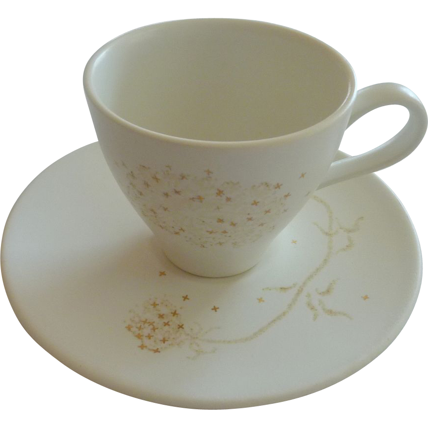 Queen Annes Lace Russel Wright Cup and Saucer