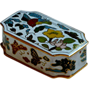 Cloisonné Rectangular Asian Brass Enamel Small Box