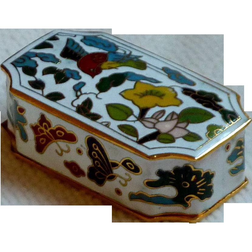 Cloisonné Cloisonne Rectangular Asian Brass Enamel Small Box