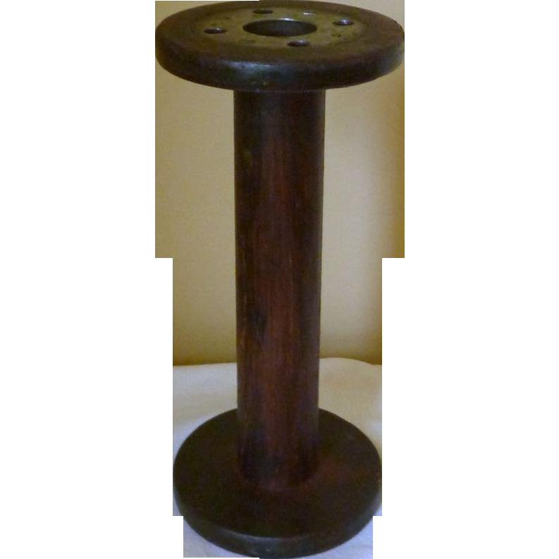 Large Wood Industrial Machine Spool