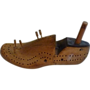 Unique & Rare Shoe Tree Form Cribbage Board
