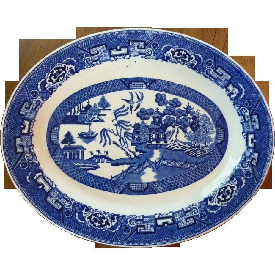 Homer Loughlin Blue Willow Serving  Platter