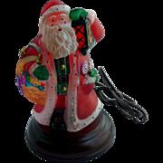 Limited Edition Old World Christmas Yuletide Santa Light