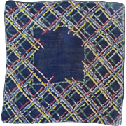 Hatch Patch Blue Red white Yellow Handkerchief Hanky