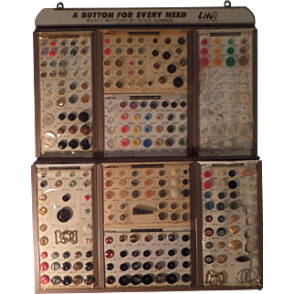 Life Button Co. New York,  Salesman Sample General Store Button Counter Display