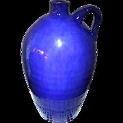 Rare REDWARE 2 Gallon Stoneware Cobalt BLUE Glaze Pottery Jug