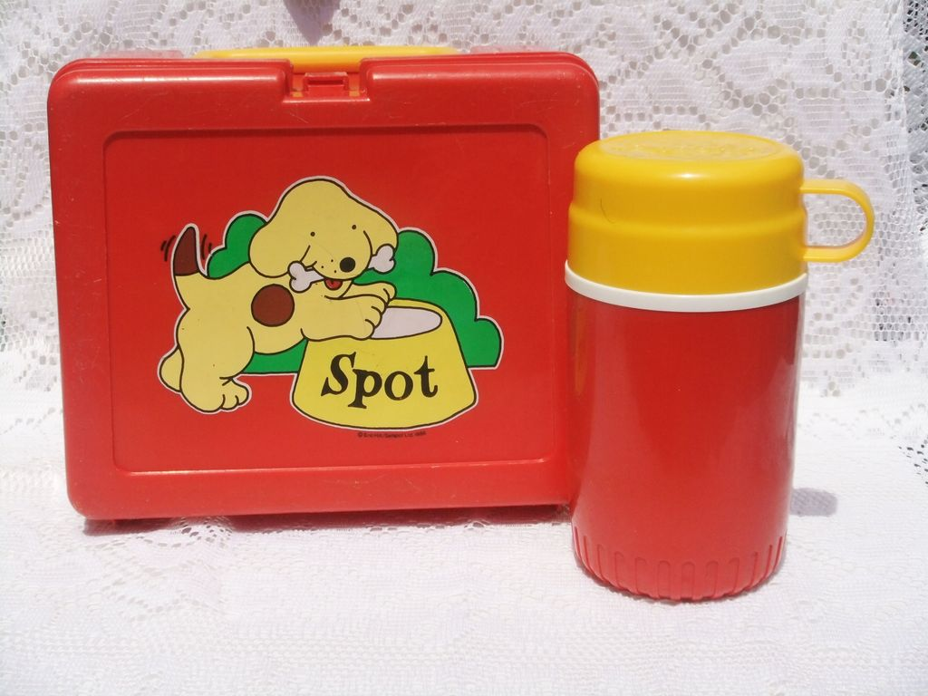 Spot the Dog Vintage RARE 1985 Lunchbox & Thermos Eric Hill England