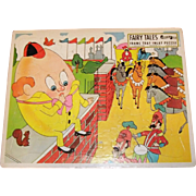 "Vintage Jigsaw Puzzle ""Humpty Dumpty"" Nursery Rhyme Fairchild Toy # 33"