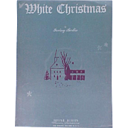 1942 Sheet Music White Christmas Irving Berlin Song Piano Lyrics Guitar Banjo