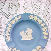 Wedgwood Ashtray Jasperware Blue 1962 Signed Vintage Pottery China