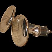 19th c.  Mercury Glass Etched Drape Tie-backs