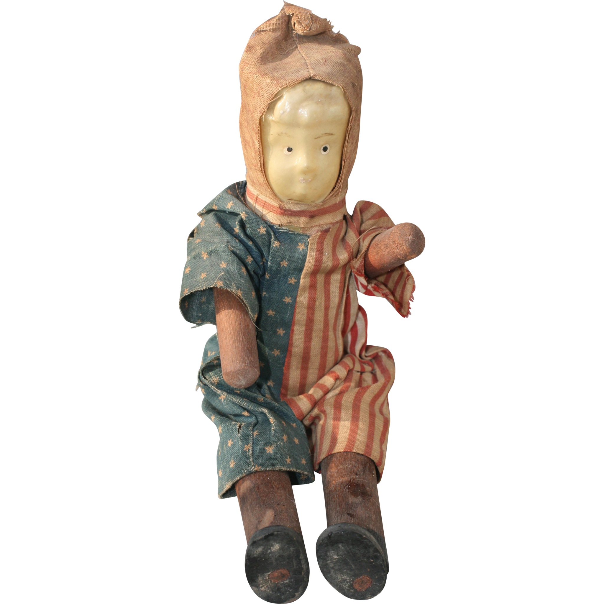 Boy Doll in Original Patriotic Clothes