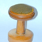 Rare Late 19th Century Catlinite Pedestal Traveler's Pincushion - FREE shipping